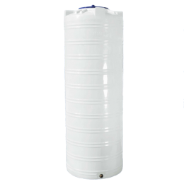Узкая емкость 1000 литров, белая