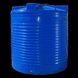 Емкость 7500 литров вертикальная синяя