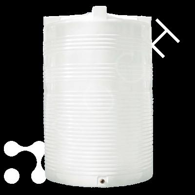 Емкость 10000 литров вертикальная белая