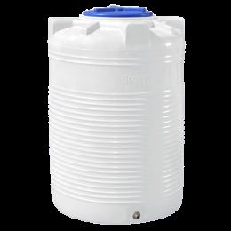 Емкость 500 литров вертикальная белая