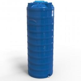 Узкая емкость 1000 литров, синяя