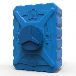 Квадратная выдувная емкость 200 литров, синяя