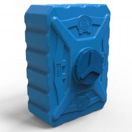 Квадратная выдувная емкость 300 литров, синяя