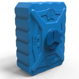 Квадратная выдувная емкость 500 литров, синяя